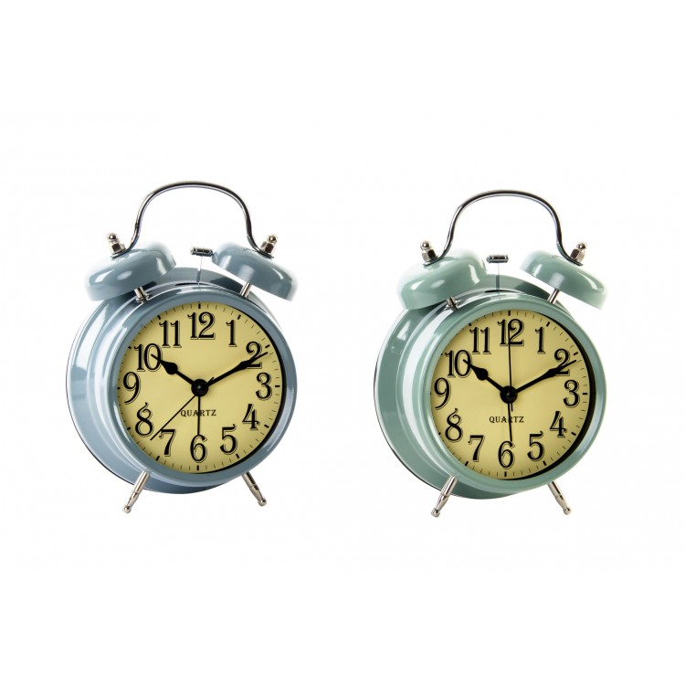 Hogar y más  -Reloj Despertador de Metal Clásico. 2 colores