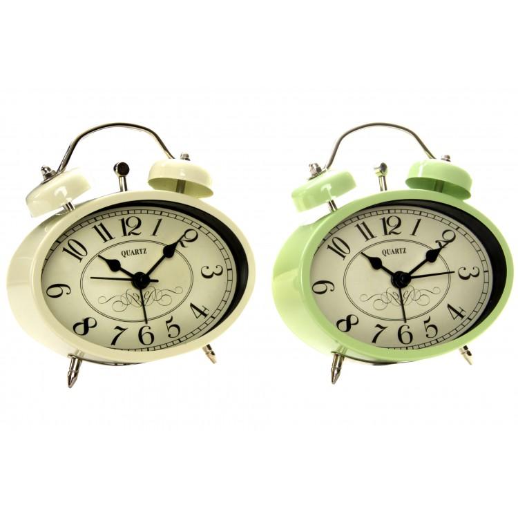 Hogar y más - Reloj Despertador Clásico de Metal