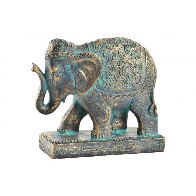 Hogar y más - Elefante de Resina con acabado Envejecido para decorar