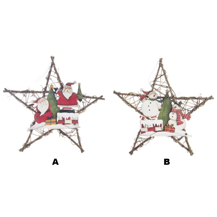 Estrella decorativa de navidad de Ratán. Edición Navideña. Hogar y Más.