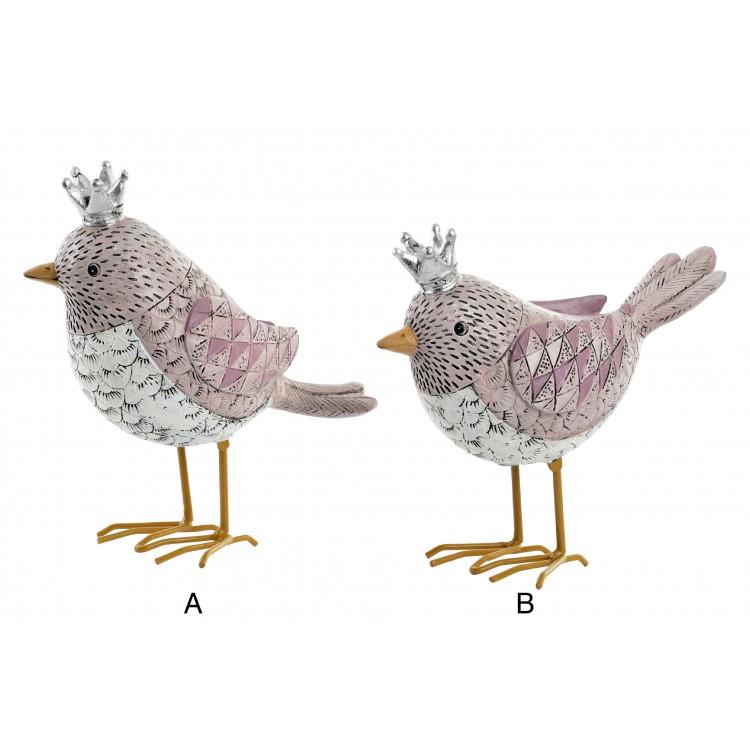 Hogar y más - Pájaro con corona para decoración. 2 modelos