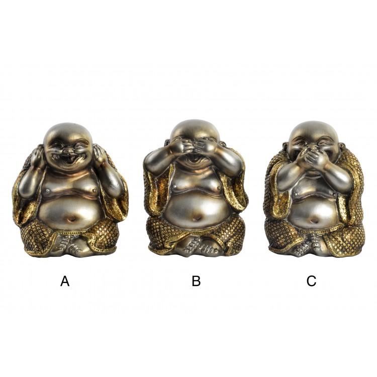 Hogar y más - Divertido buda sentado para decorar. 3 modelos