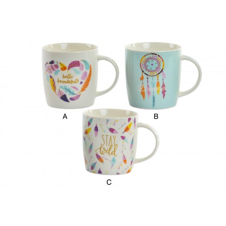 Hogar y más - Tazas de Porcelaca de estilo Boho. 3 modelos