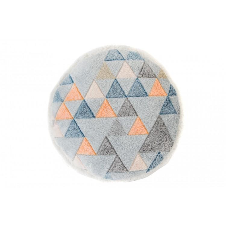 Hogar y más - Cojín redondo diseño triángulos