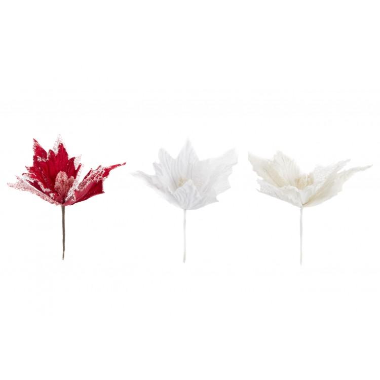 Flor de goma eva con efecto nevado - Edición Snow - Hogar y más