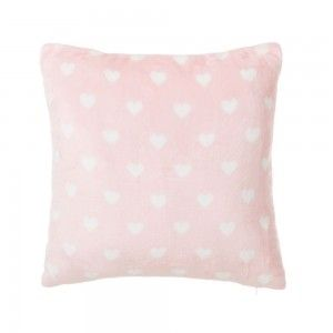 Home and more - Cushion-flannel-Pink with hearts