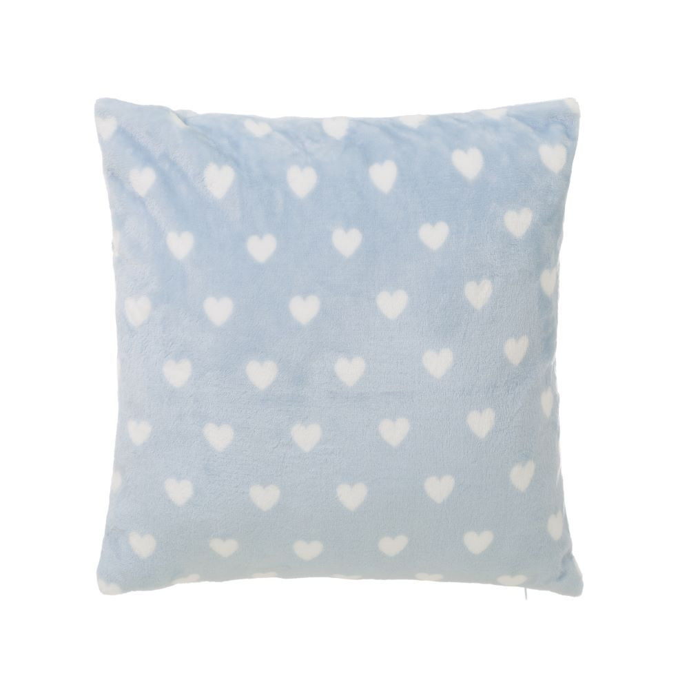 Home and more - Cushion-blue-fraela very soft. Hearts