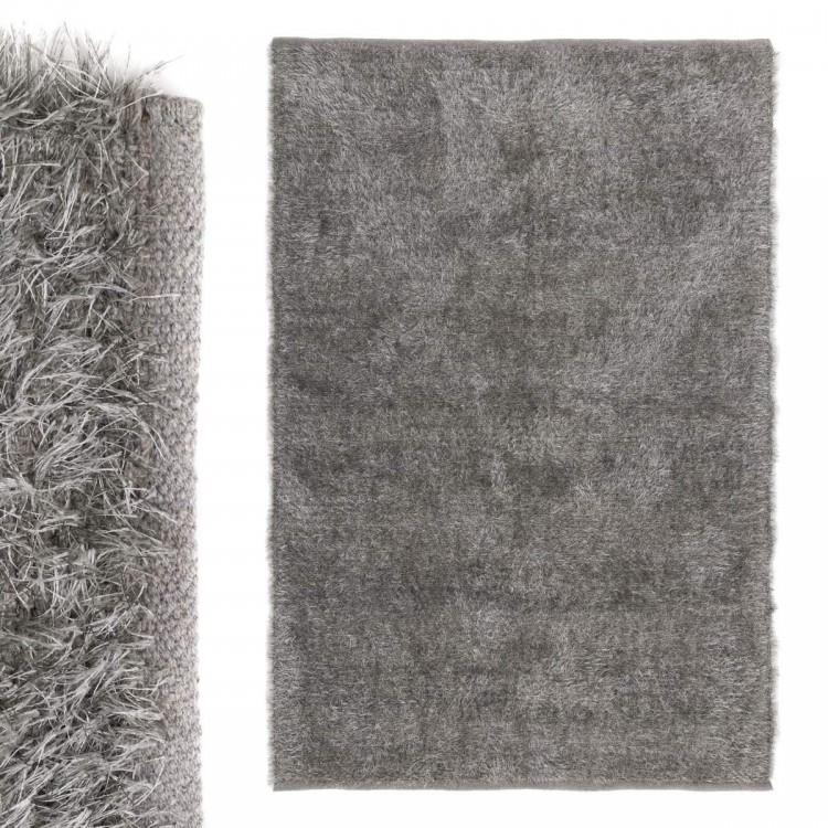 Hogar y más - Alfombra grande de color gris de algodón