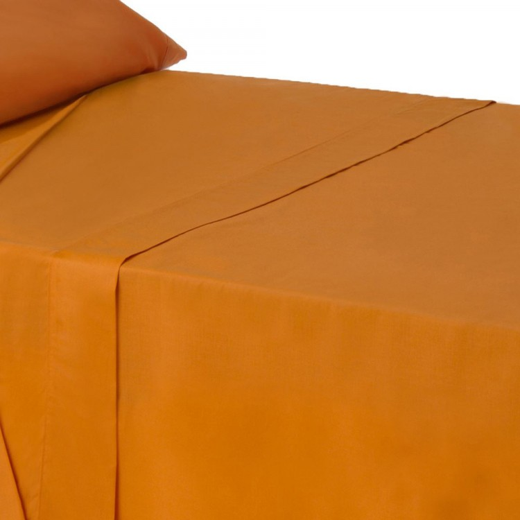 Hogar y más  -Sábana Encimera de color Naranja para camas de 90. Buena calidad