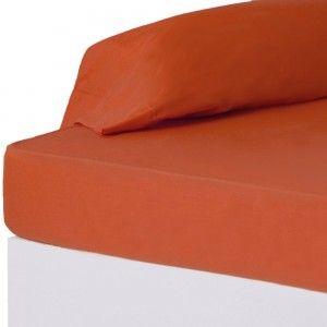 Hogar y más - Sábana Bajera Roja para camas de 90