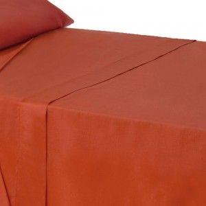 Hogar y más - Sábana encimera para cama de 90 de color rojo