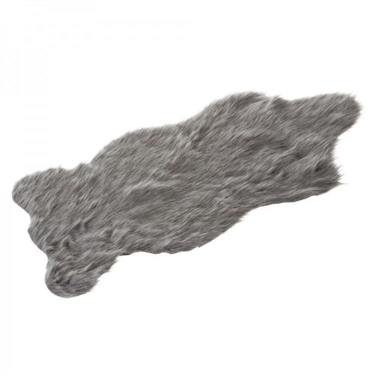 Hogar y más - Alfombra Sheepskin de color gris