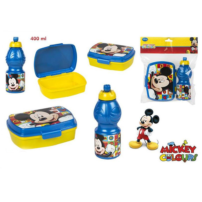 Sandwich maker and bottle of Mickey in Set - Edition Disney. - Home and more.
