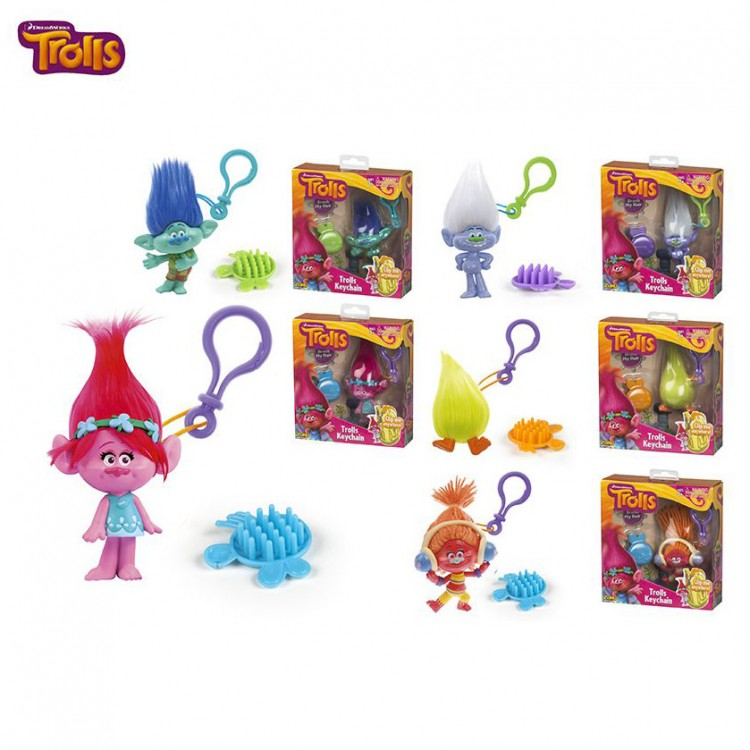 Llavero de Los Trolls de Con diferentes colores - Edición trolls - Hogar y más.