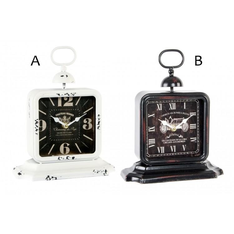 Reloj de sobremesa elegante y Vintage de metal Good Times - Hogar y Mas
