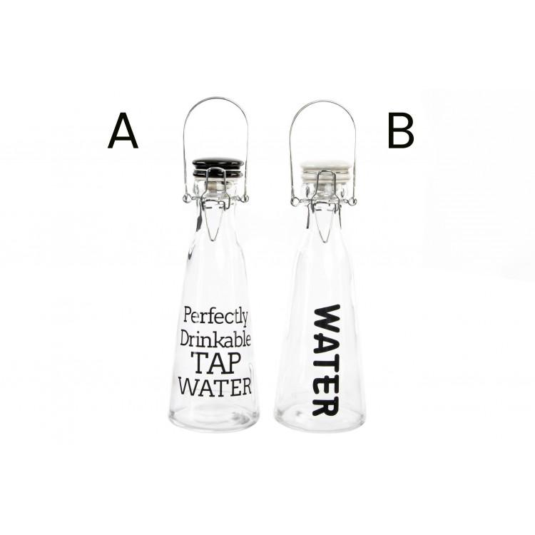 Botella de cristal original con práctico cierre de seguridad en dos modelos My Water - Hogar y Más