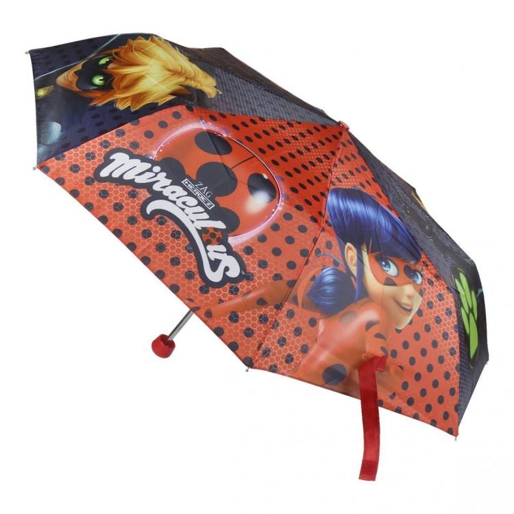 Paraguas infantil exclusivo de Miraculous con Lady Bug y Cat Noir- Hogar y Más