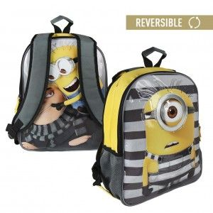 Children's backpack funny Minions reversible with two illustrations - Home and More