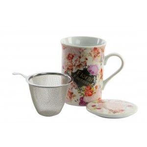 Taza para infusiones Floral Fantassy en cajita - Hogar y más