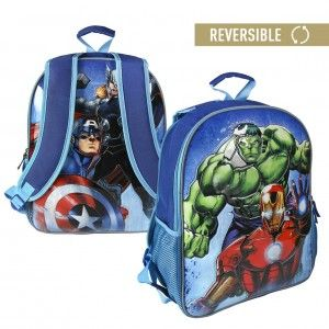 Children's backpack Avengers reversible with two illustrations - Home and More
