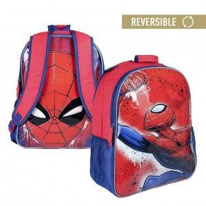 Mochila infantil de Spiderman reversible con dos ilustraciones - Hogar y Más