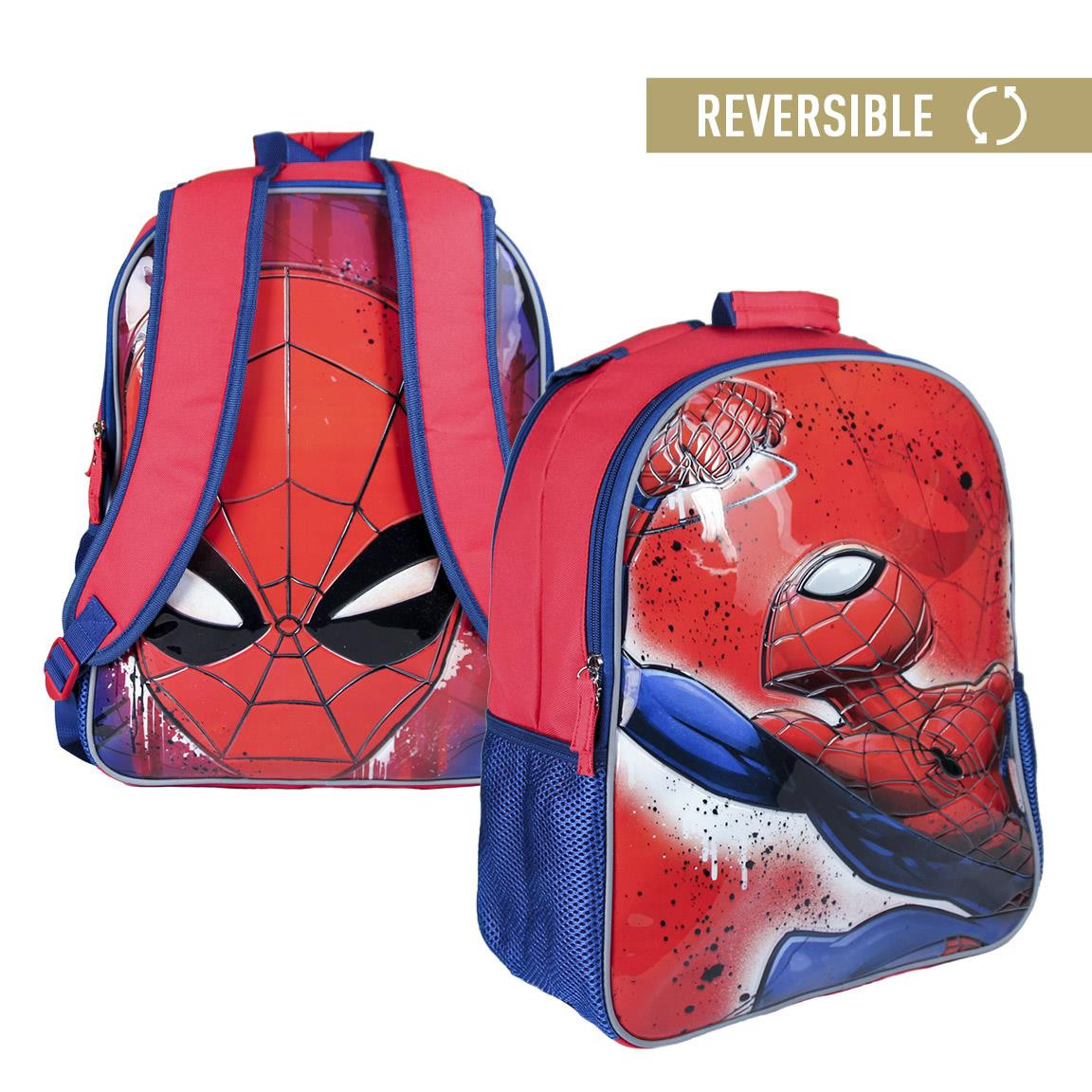 Children's backpack Spiderman reversible with two illustrations - Home and More