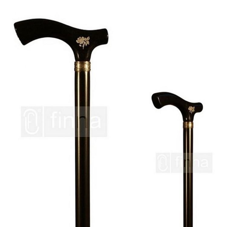 Bastón Negro de Madera de Haya con Grabado Hogar y Más
