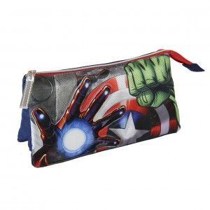 Estuche neceser portatodo práctico para defender la paz del mundo Avengers - Hogar y Mas