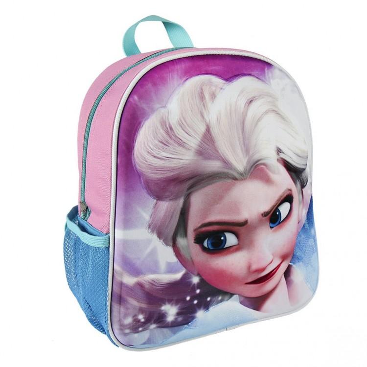 Mochila infantil 3D Elsa de Frozen cómoda y practica - Hogar y Mas
