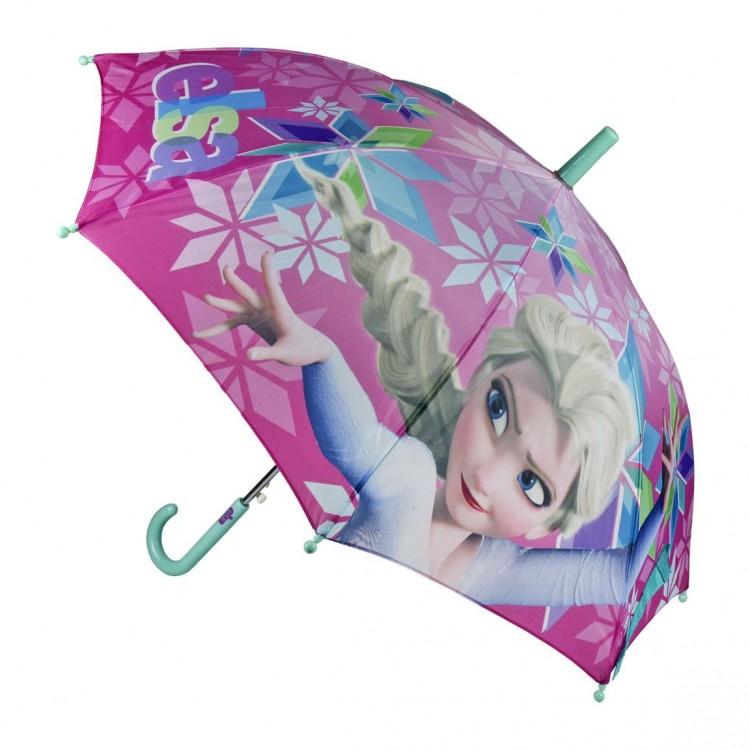 Paraguas infantil de Elsa de Frozen de color rosa muy alegre - Hogar y Mas