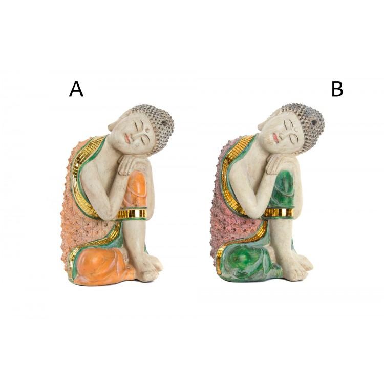 Figura de Buda Wabi Sabi mistica con efecto envejecido - Hogar y Mas
