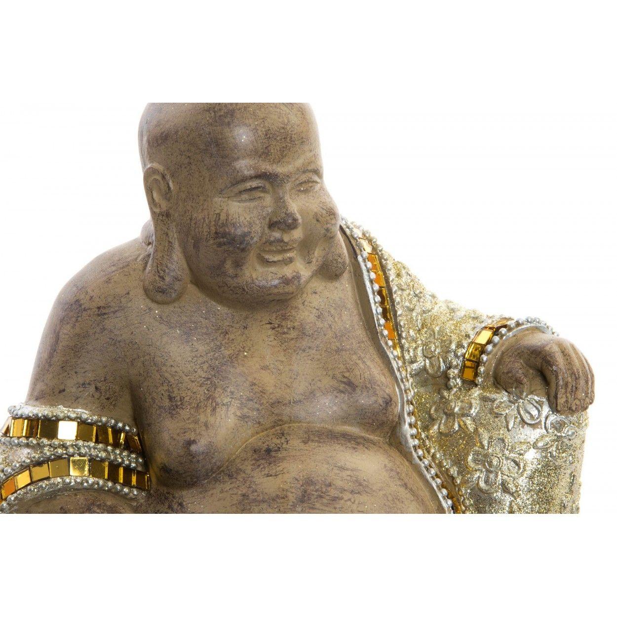 Figura De Buda Wabi Sabi Sentado Para Jardin O Zona De Relajacion