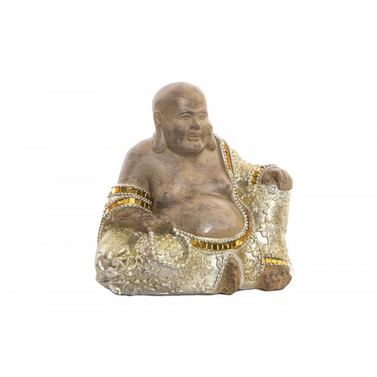 Figura de Buda Wabi Sabi sentado para jardin o zona de relajacion - Hogar y Mas