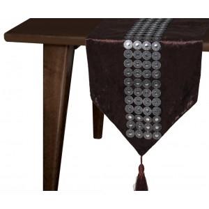 Camino de mesa elegante y moderno con borlas arabia for Camino mesa moderno