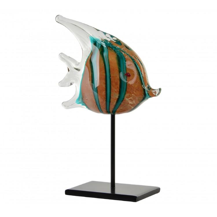 Pez de cristal Figura especie Zanclus multicolor original y llamativa Crystal Sea - Hogar y Mas