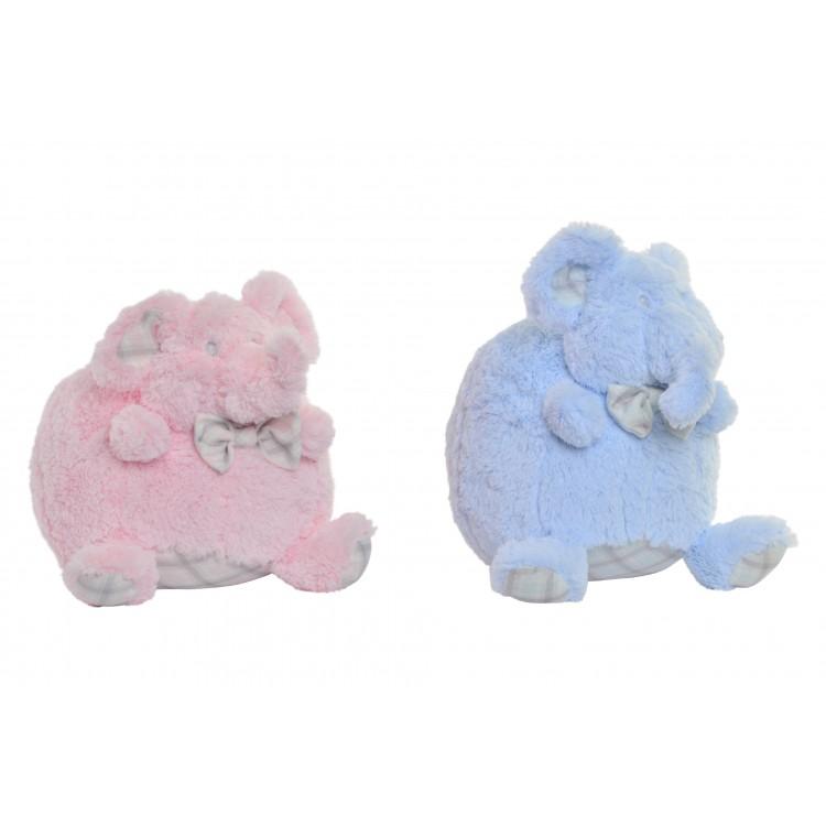 Elefante de peluche simpático muy suave disponible en dos colores Cotton World - Hogar y Mas