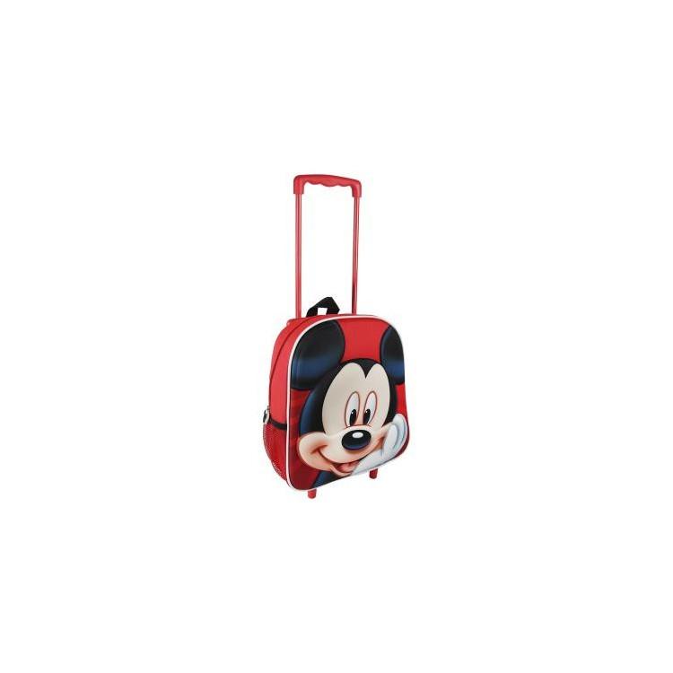 Mochila Trolley infantil de Mickey Mouse de color rojo alegre - Hogar y Mas