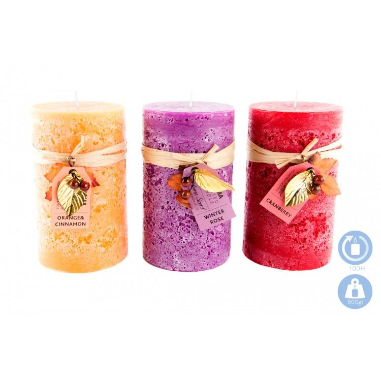 Vela aromática elegante en 3 colores y aromas Nature Essence - Hogar y Mas