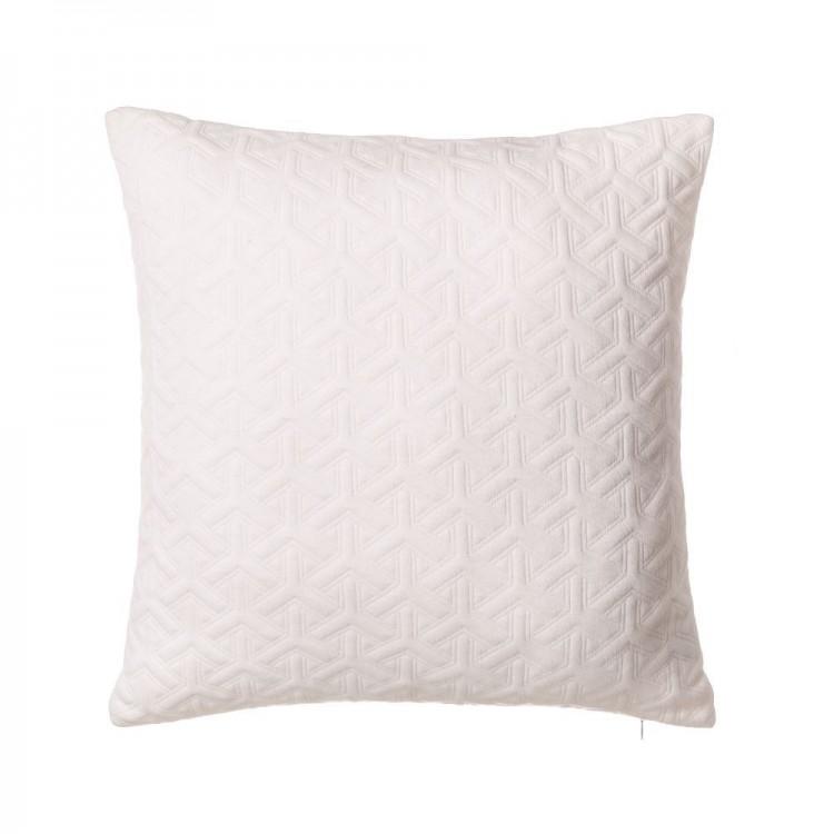 Cojín Jacquard de color Blanco - Hogar y más