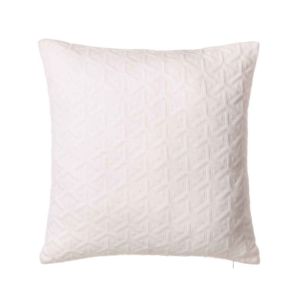 Cushion Jacquard color White - Home and more