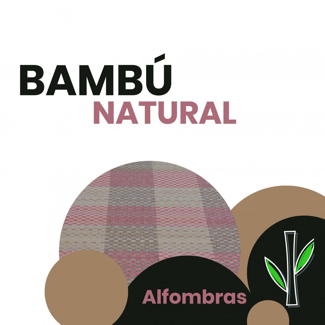 Comprar alfombra de bambu natural pasillera en tonos rosas hogar y mas - Alfombras bambu colores ...