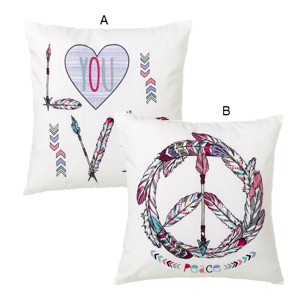 Cushion-Peace & Love Polyester - Home and more