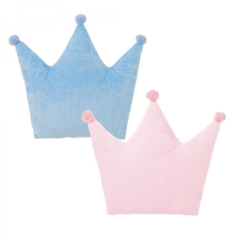 Cojín con forma de corona azul o rosa - Hogar y más