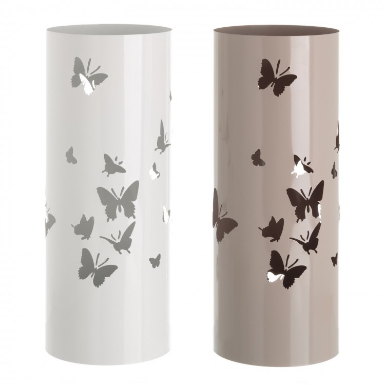 Paragüero metálico lacado con mariposas - Hogar y más