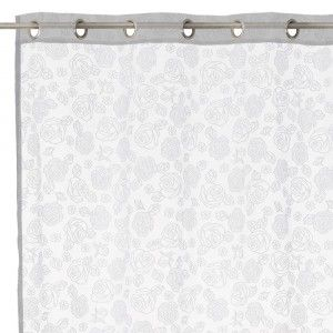 Elegant curtains embossed with roses - Home and more