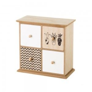 Chest of drawers with 4 drawers with ethnic design - Home and more