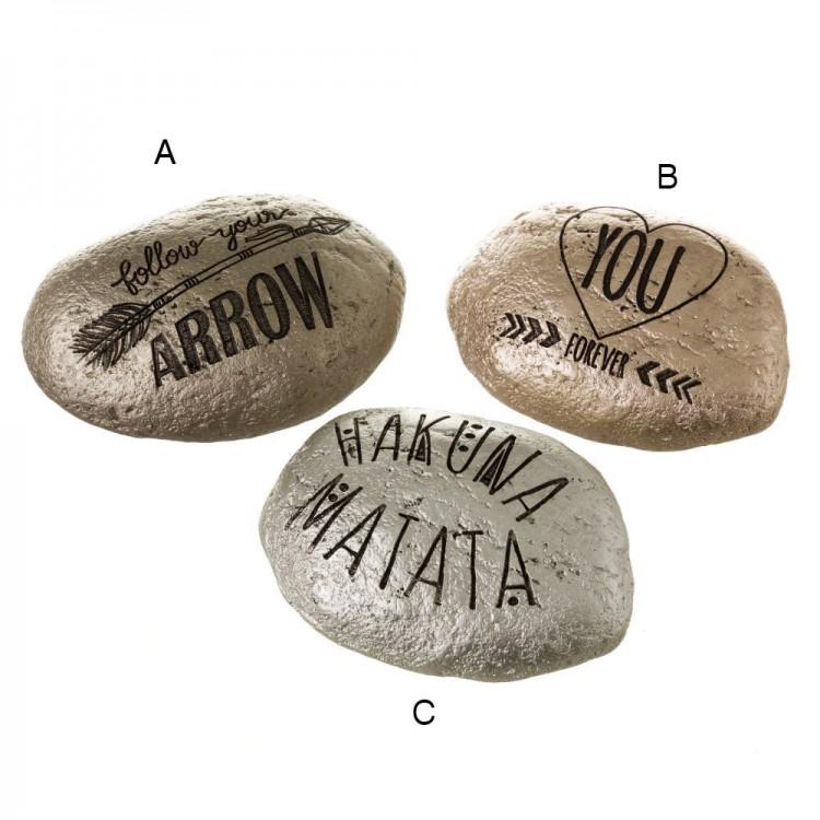 Piedra decorativa con Frases Motivadoras - Hogar y más