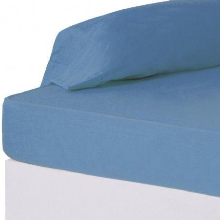 Sábana Bajera de color azul para camas de 90 - Hogar y más