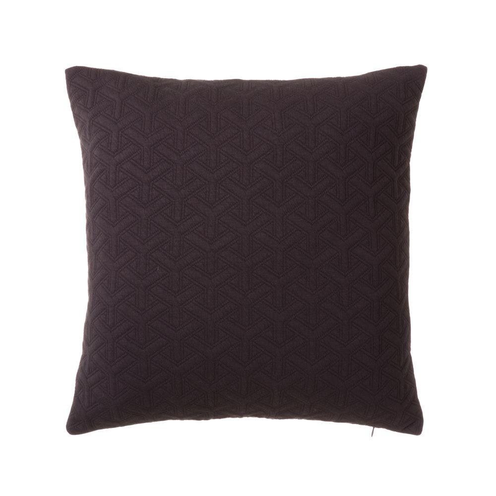 Cushion dark grey Jacquard - Home and more
