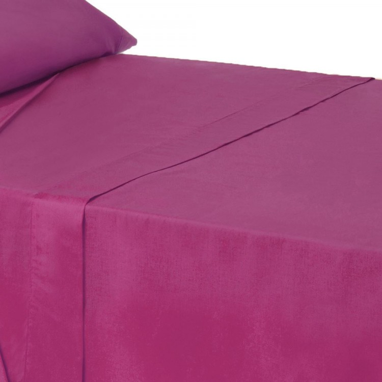 Sábana encimera para camas de 90 en color fucsia - Hogar y más